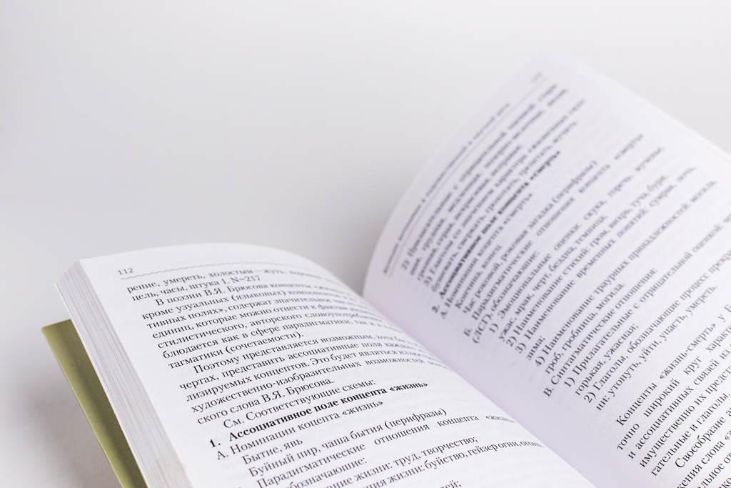 Верстка разворота книги Функции антонимии в художественной и научной речи