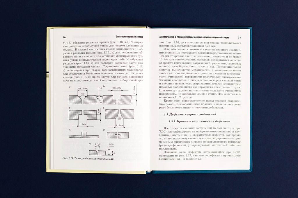 Оформление разворота книги Электроннолучевая сварка