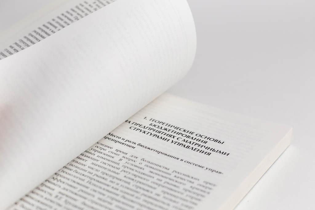 Верстка книги Бюджетирование на проектно-ориентированном предприятии с матричной структурой управления: организационно-методические основы