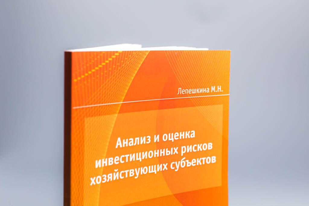 Обложка монографии Анализ и оценка инвестиционных рисков хозяйствующих субъектов Лепешкина М.Н.