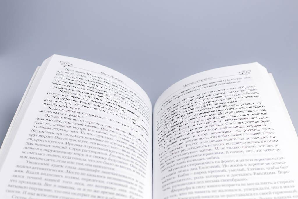 Верстка книги Цветок папоротника автор Ольга Лозицкая