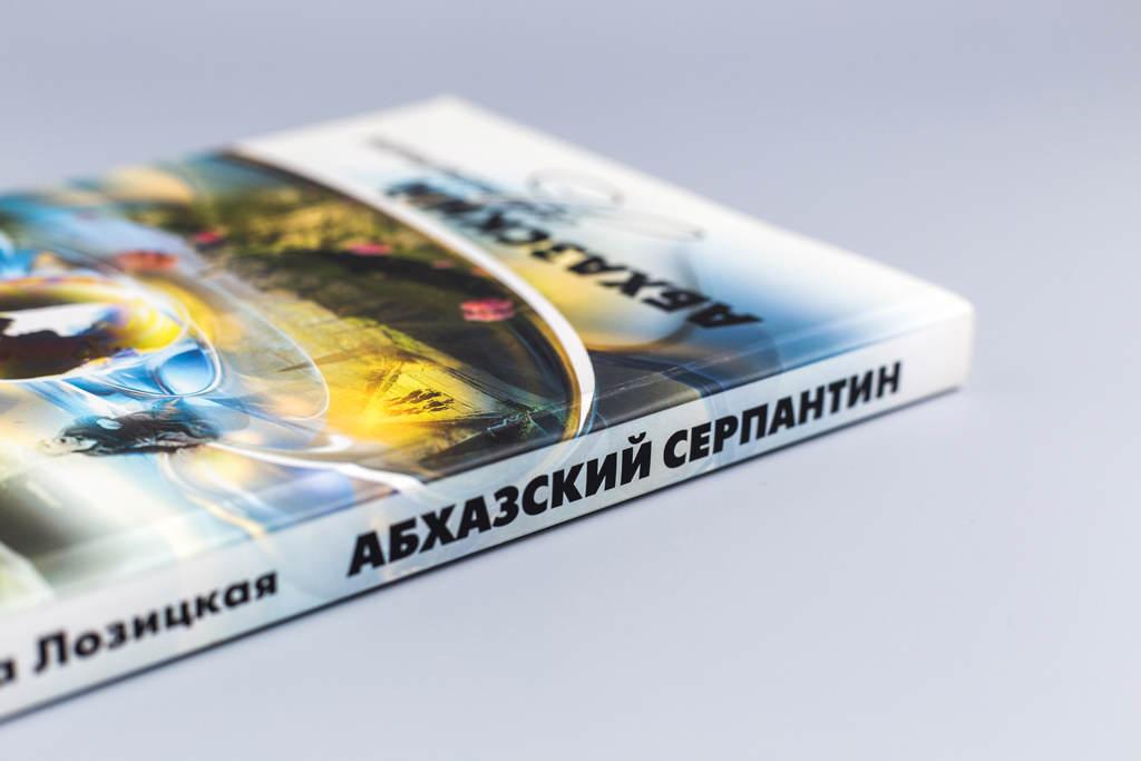 Дизайн обложки книги Абхазский серпантин автор Ольга Лозицкая