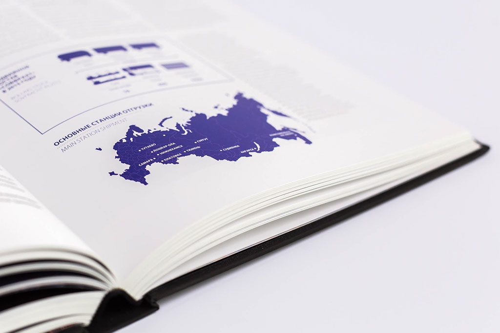 Инфографика годового отчета группы компаний Новый поток