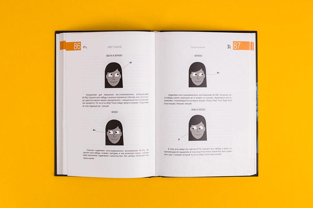 Дизайн разворота книги Лиор Сушард