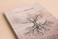 Оформление обложки книги стихов Земные стебли