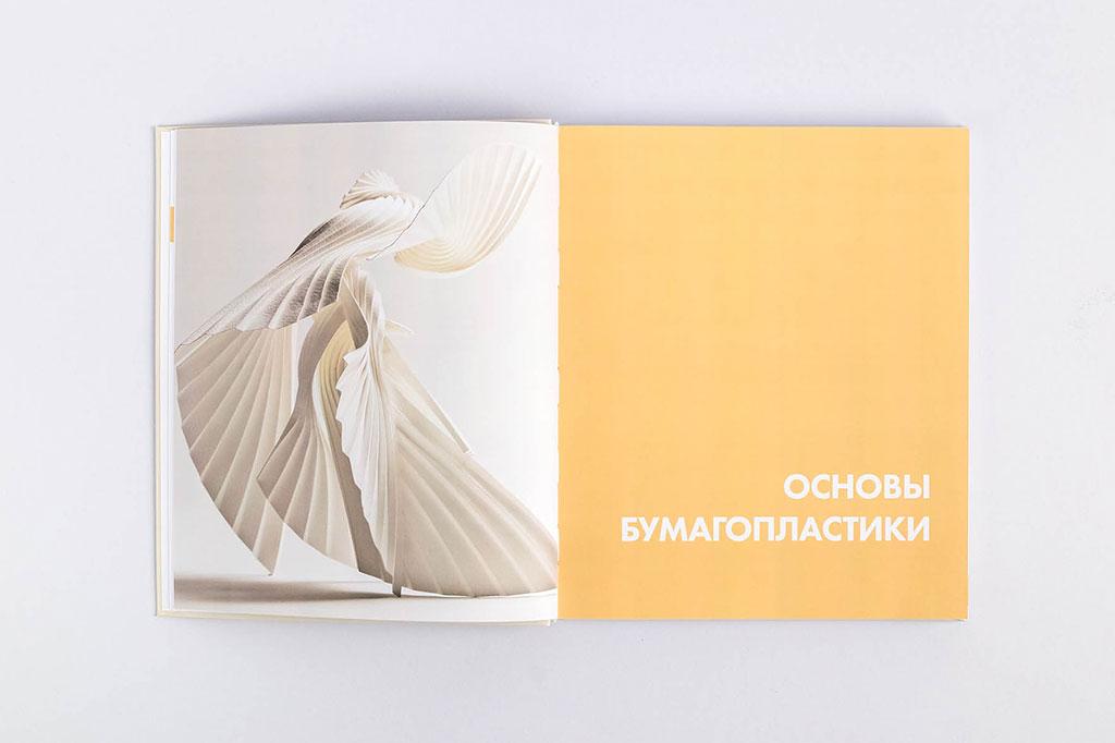 Дизайн шмуцтитула книги для дизайнеров Бумагопластика автор Салтыкова Г.М.
