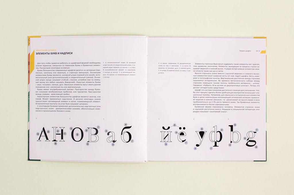 Дизайн разворота книги Г.М. Салтыкова - Шрифт - учебное пособие для дизайнеров