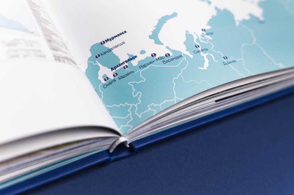 Отрисовка карт для книги Росморпорт 15 лет