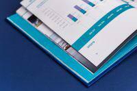 Оформление графическими элементами книги для предприятия Росморпорт 15 лет