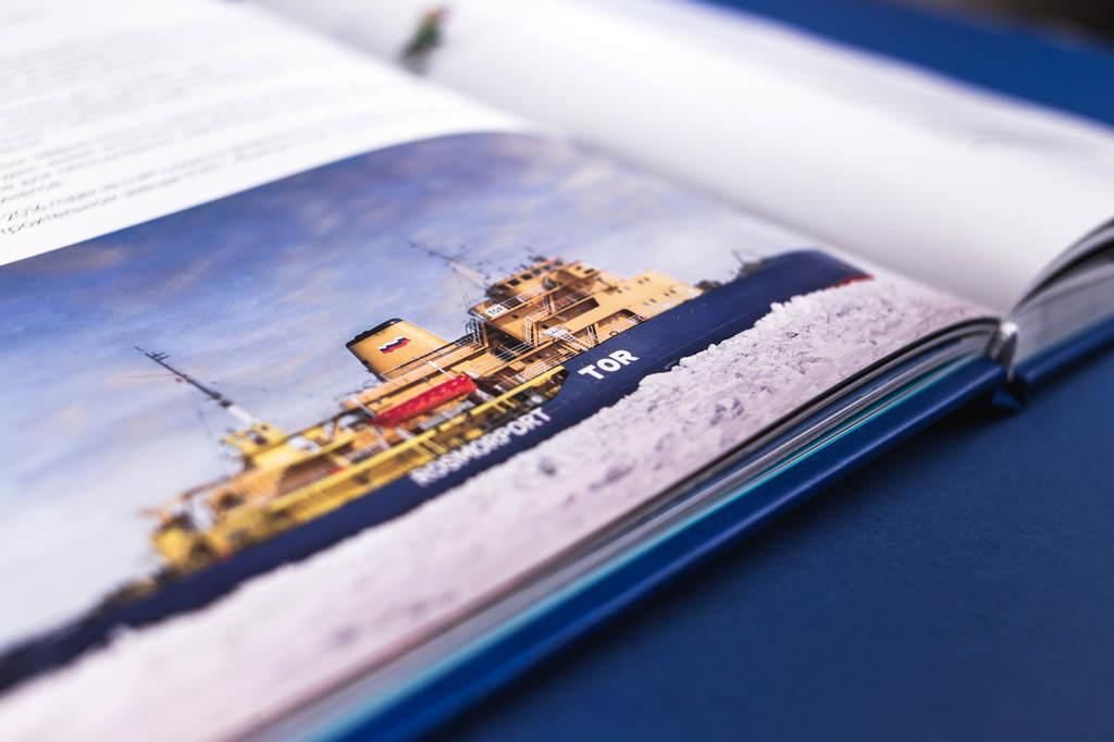 Фотографии в книге к 15 летнему юбилею Росморпорт. Безопасность мореплавания — наша работа