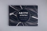 Дизайн обложки книги на английском языке Артерии Арктики — книга светится в темноте