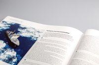 Верстка на английском языке книги Артерии Арктики — книга светится в темноте
