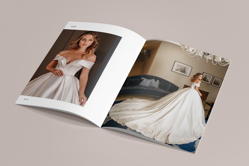 Дизайн и верстка блока каталога продукции свадебных платьев