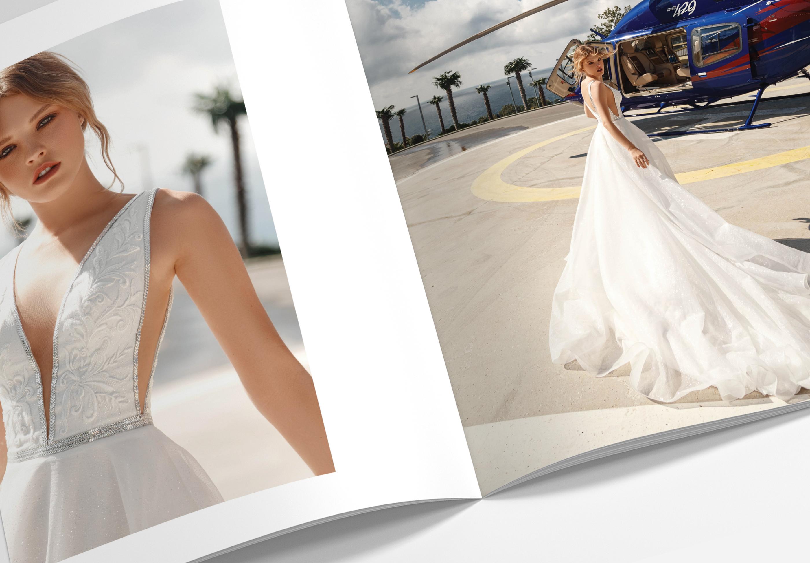 Верстка рекламного каталога свадебных платьев