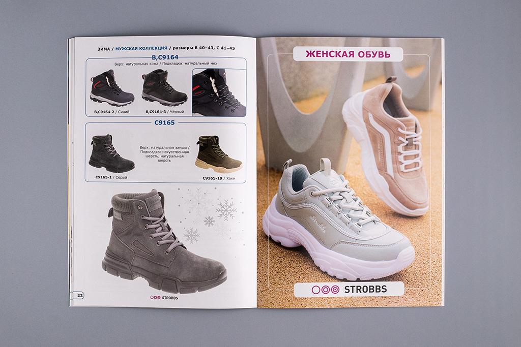 Оформление начала раздела женской обуви в каталоге