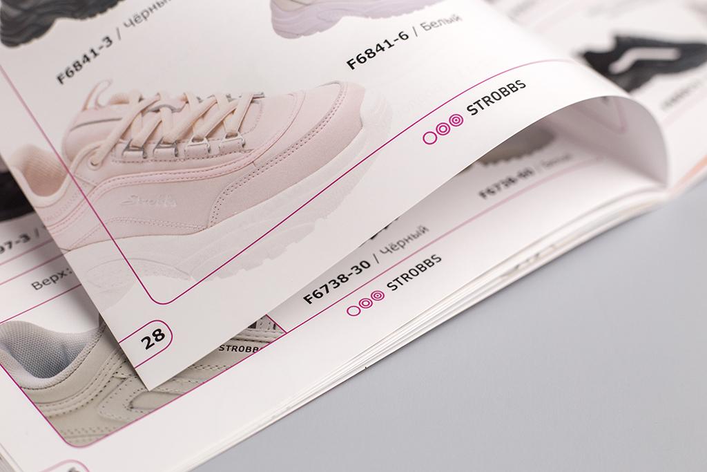 Дизайн колонцифр каталога обуви