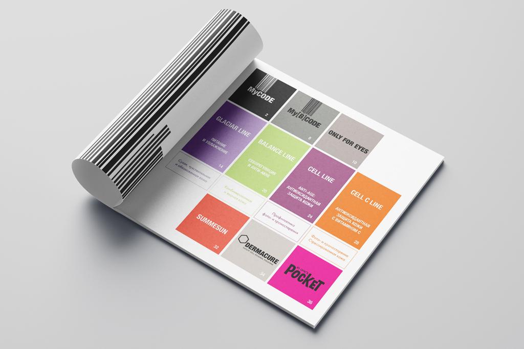Дизайн содержания каталога косметики
