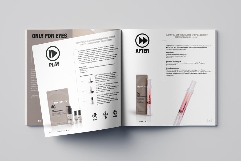 Дизайн и верстка разворота каталога косметической компании