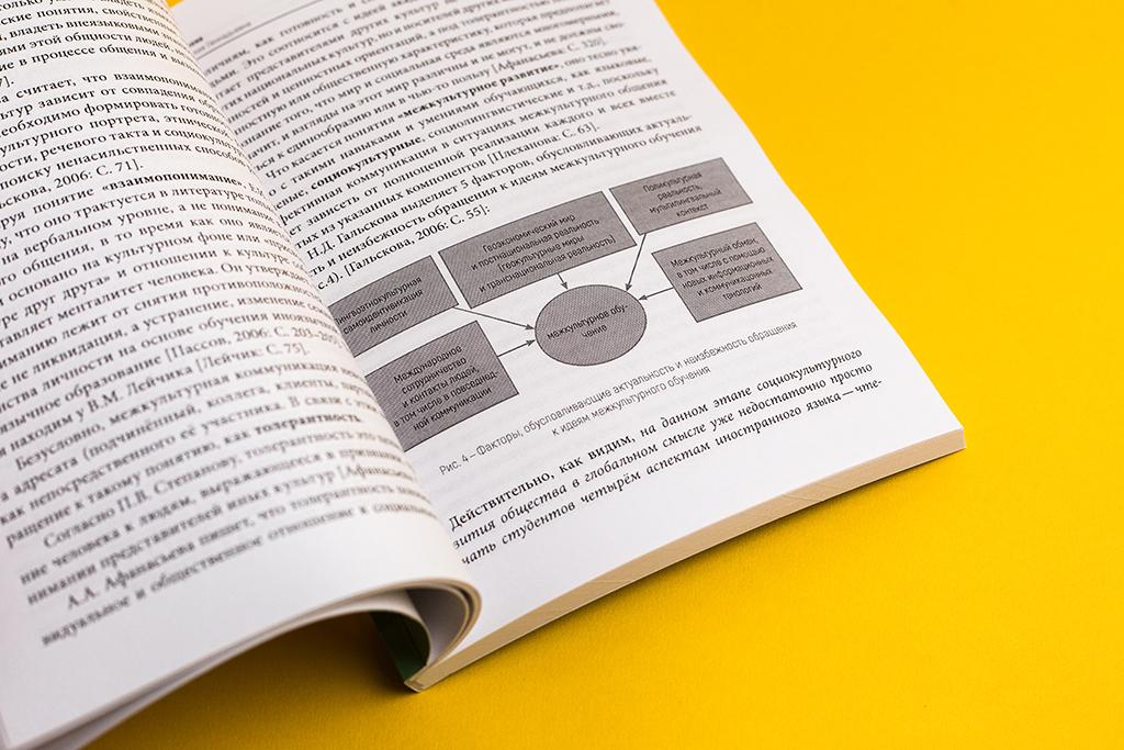 Верстка разворота монографии Формирование социокультурной позиции студентов экономического вуза в процессе преподавания иностранного языка