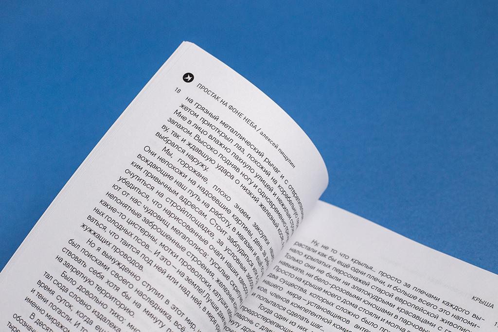 Элементы оформления книги Простак на фоне неба / автор Пищулин Алексей