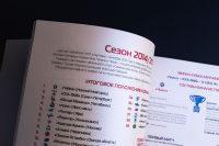 Верстка разворота книги к юбилею Молодежная хоккейная лига 2009–2019