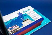 Иллюстрации презентационного альбома для компании Росморпорт о ледоколе Виктор Черномырдин
