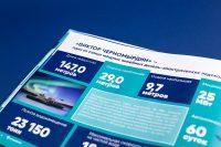 Создание инфографики для презентационного альбома для компании Росморпорт о ледоколе Виктор Черномырдин