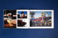 Верстка фотоматериала презентационного альбома для компании Росморпорт о ледоколе Виктор Черномырдин