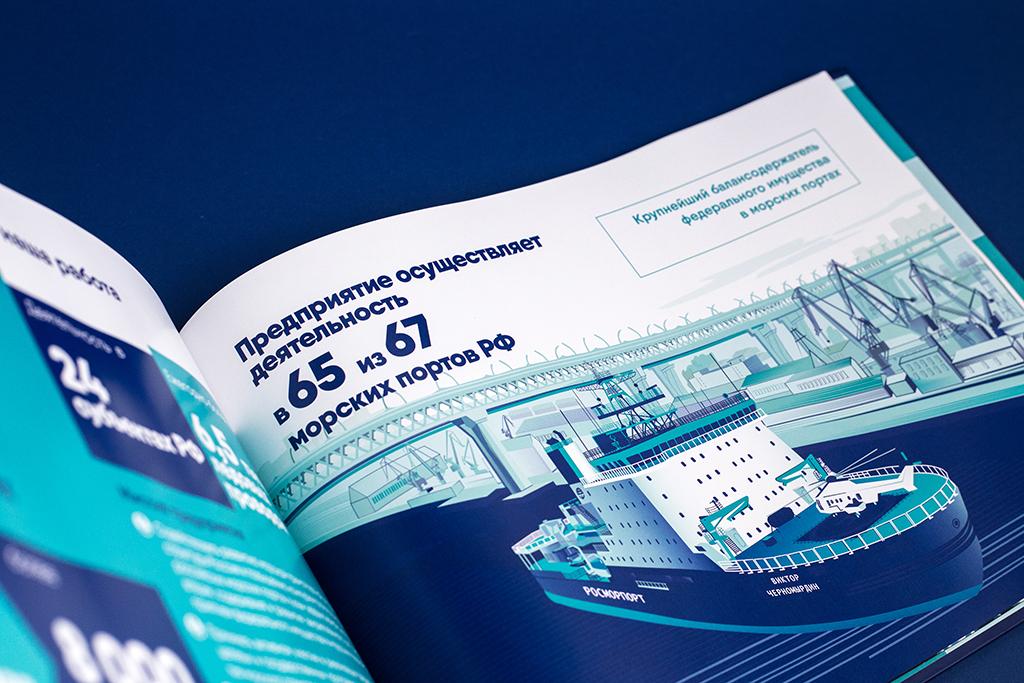 Создание иллюстраций для презентационного альбома для компании Росморпорт о ледоколе Виктор Черномырдин