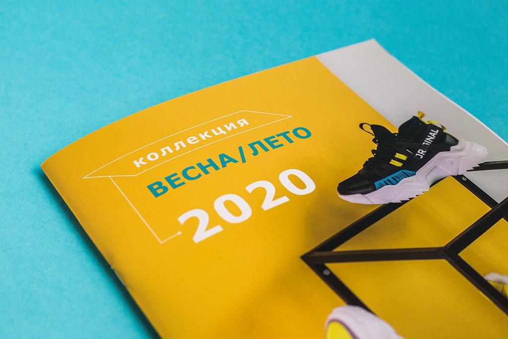 Дизайн обложки каталога обуви компании Strobbs 2020