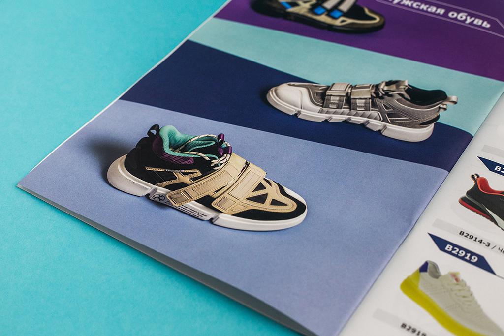 Оформление шмуцтитула мужской коллекции каталога обуви компании Strobbs 2020