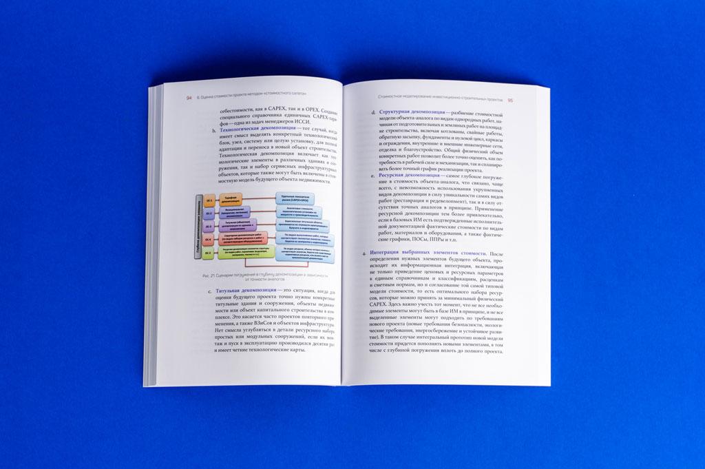 Верстка блока книги Стоимостное моделирование инвестиционно-строительных проектов