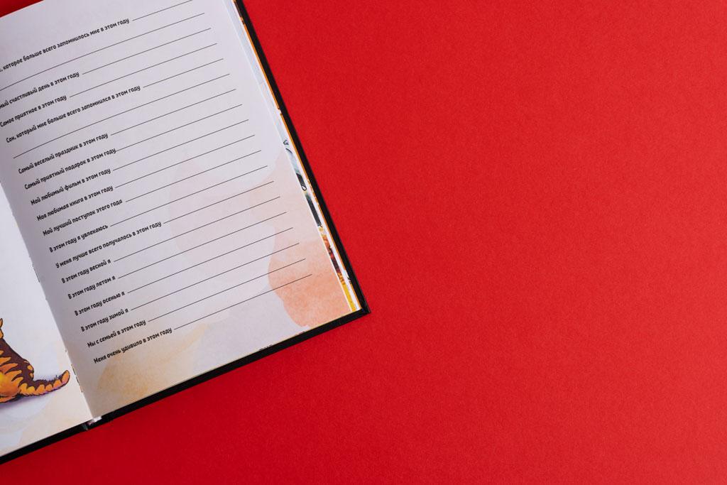 Верстка страницы Мой волшебный дневник