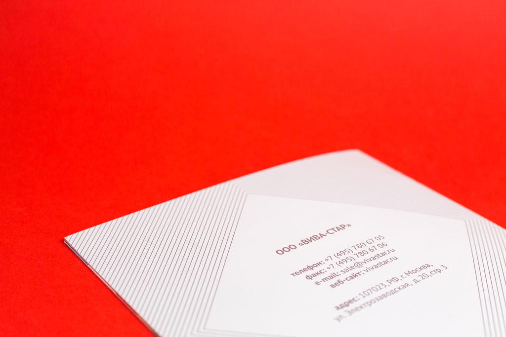 Четвертая полоса каталога для типографии ВИВАСТАР