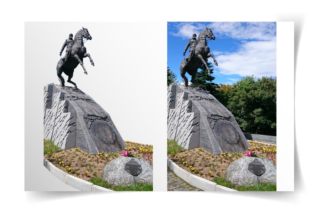 Обтравка памятника