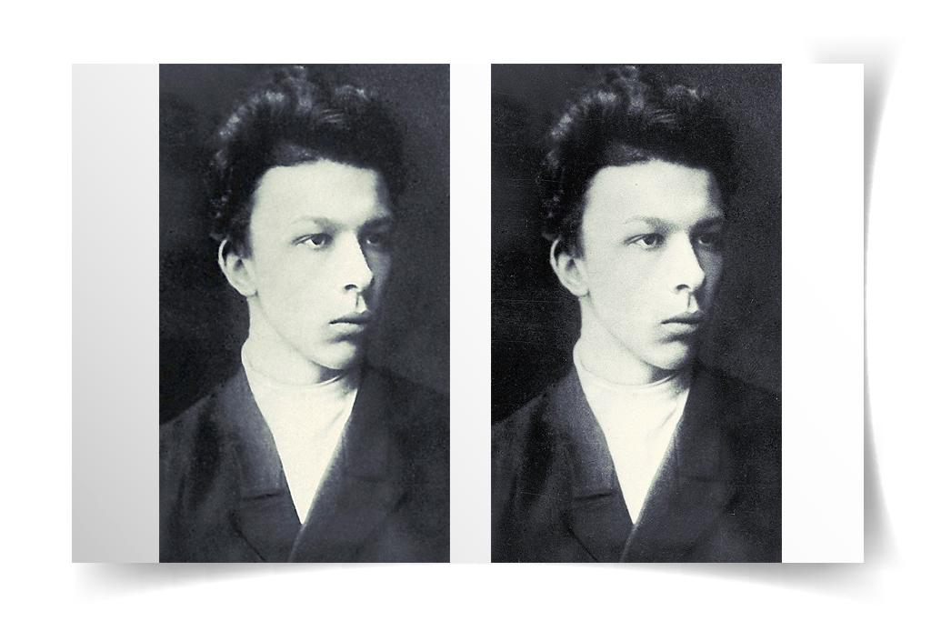 Ретушь старого фото портрета